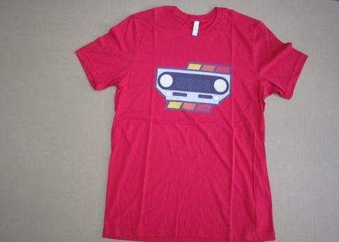 ランクル40風 グリルデザインTシャツ 赤・黒・グレー 新品