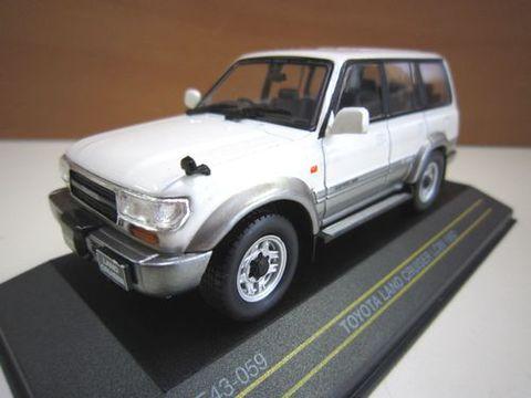 ランクル80 1992年後期型 ホワイト/グレー 1/43 ダイキャスト製 新品
