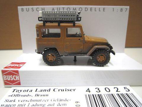BUSCH 40オフロード ブラウン 1/87 新製品 43025