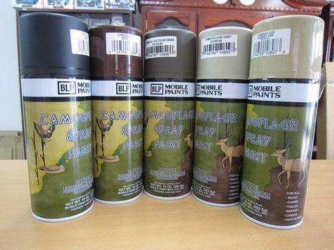 迷彩色スプレー缶 5本セット 新品