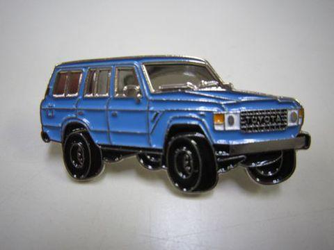 ランクル60ワゴン ピンバッチ 青 新品