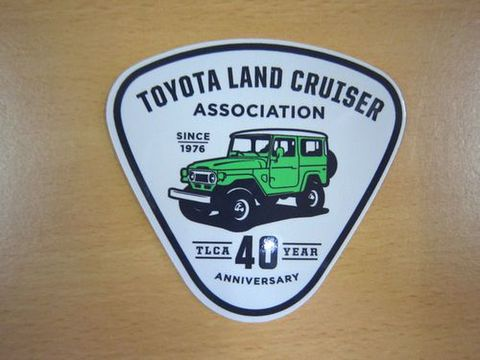 TLCA40周年記念 ランクル40 グリーン ステッカー 新品