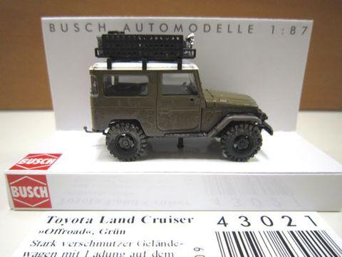 BUSCH 40オフロード モスグリーン 1/87 新製品 43021