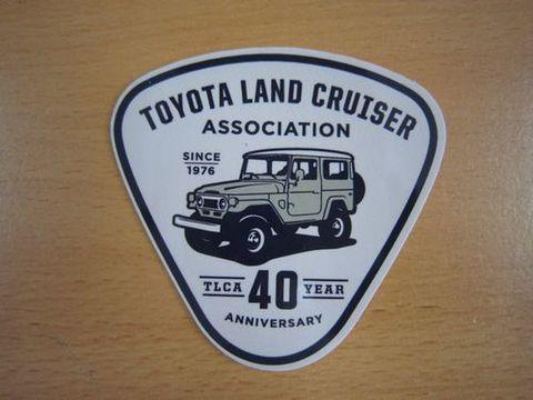 TLCA40周年記念 ランクル40 カーキ ステッカー 新品