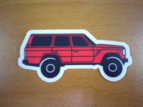 ランクル60 赤 ステッカー 新品