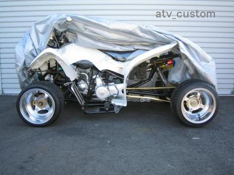 ATV4輪バギー ロンスイ対応 ボディーカバー シルバー