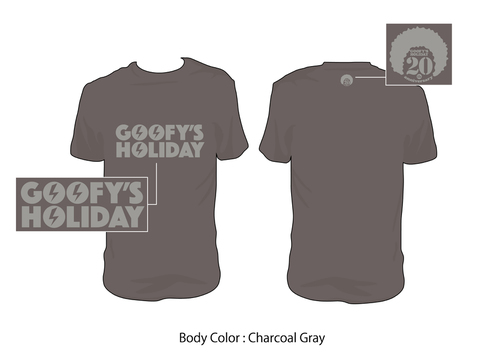 GOOFY'S HOLIDAY/20th Tee(Charcoal)
