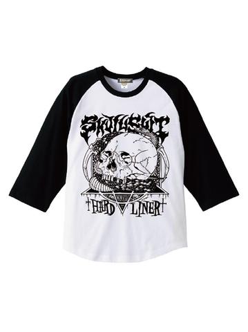 """SKULLSHIT """"Snake"""" Raglan Shirts (SKS-462) - ホワイトver."""