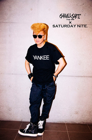 SKULLSHIT × SATURDAY NiTE collaboration「YANKEE Tシャツ」(SKS-465)