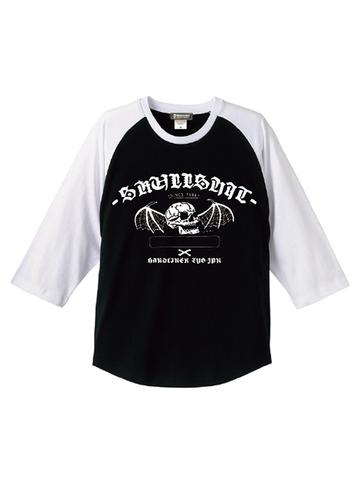 """SKULLSHIT """"Bat Skull"""" Raglan Shirts (SKS-461) - ブラックver."""