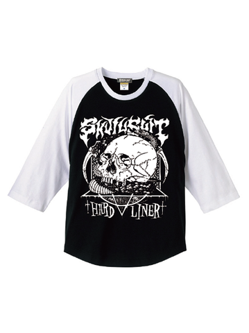 "SKULLSHIT ""Snake"" Raglan Shirts (SKS-462) - ブラックver."