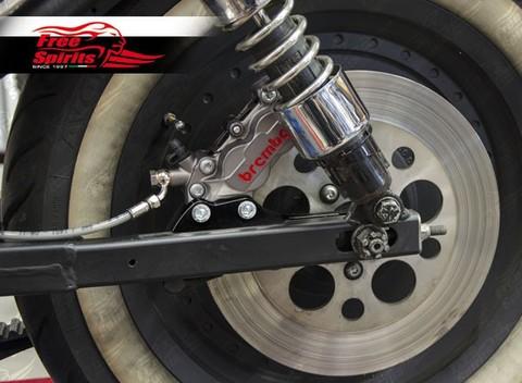 Freespirits Harley-Davidson スポーツスター1983 - 1999用(292 mmローター用) リアブレンボ4PODキット(チタンカラー)Code: 205711T