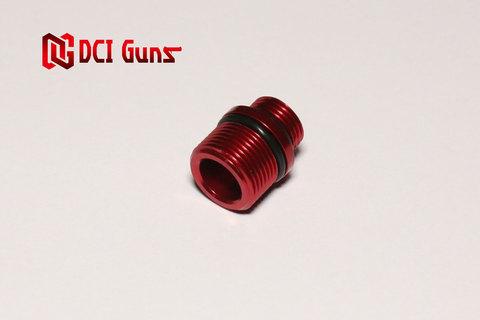 M11正ネジ-M14逆ネジ変換アダプター RED