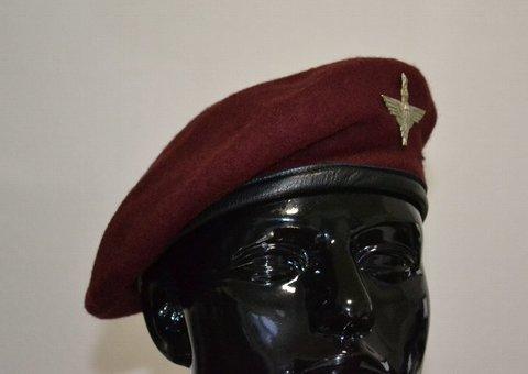 WW2★イギリス軍★パラレジメントバッジ付★ベレー帽★空挺部隊
