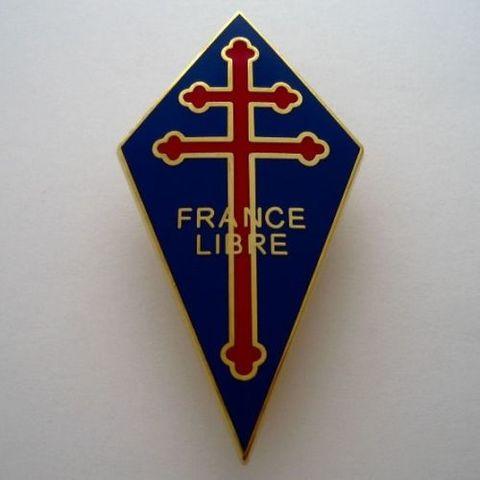 WW2自由フランス軍★エナメルブレストバッジ★FRANCE LIBRE