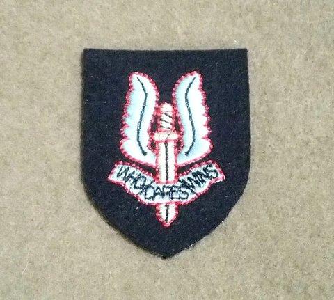 英軍★SASベレー帽章(刺繍)★スペシャル・エア・サービス