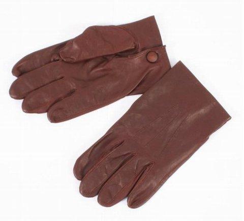 英軍将校ブラウンレザー手袋