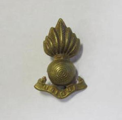 WW2英軍 Royal Artillery ブラスバッジ帽章襟章