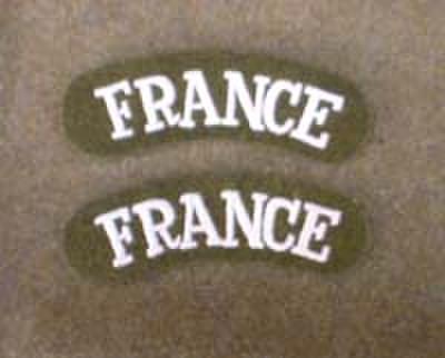 WW2自由フランス軍★Franceショルダータイトル★ペア