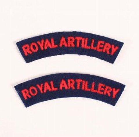WW2英軍ロイヤル・アーティラリーショルダータイトル