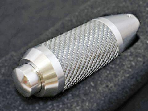 シフトノブ プッシュボタン付きAT用 シルバー x シルバー カーボン