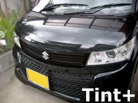 Tint+ スズキ パレットSW MK21S フロントグリル 用 ★ブラックスモーク