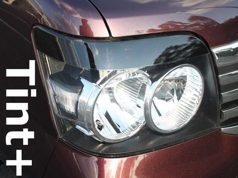 Tint+ ダイハツ アトレーワゴン S320G/S330G 前期 S321G/S331G 中期 ヘッドライト 用 ★ブラックスモーク
