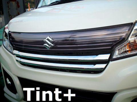 Tint+ スズキ スペーシアカスタム MK32S/MK42S フロントグリル 用 ★ライトスモーク