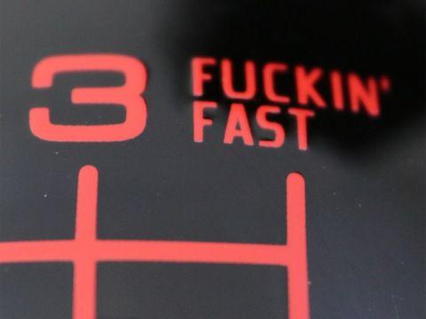 シフトノブ 5MT用 丸型 レッド(ブラック) FUCKIN'FAST ホンダ用