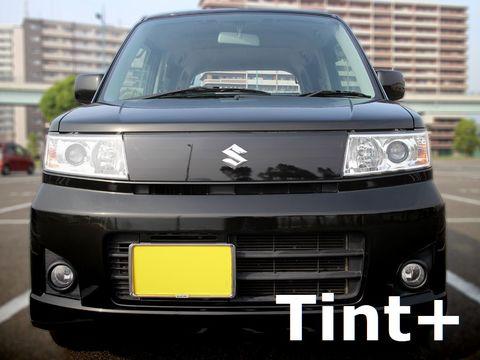 Tint+ スズキ ワゴンR スティングレー MH22S フロントグリル 用 ★ブラックスモーク