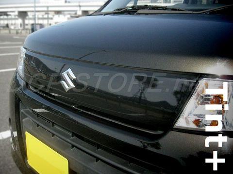 Tint+ スズキ ワゴンR MH23S スティングレー フロントグリル 用 ★ブラックスモーク