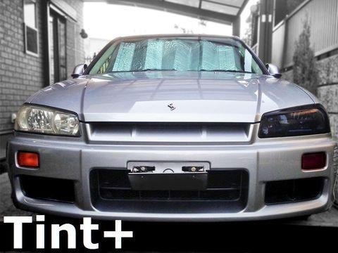 Tint+ 日産 スカイライン R34 セダン/クーペ/GT-R 前期/後期 ヘッドライト 用
