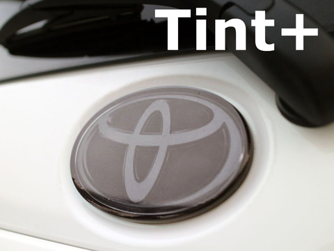 Tint+ トヨタ アクア NHP10 後期 GR フロントエンブレム 用 ★ライトスモーク