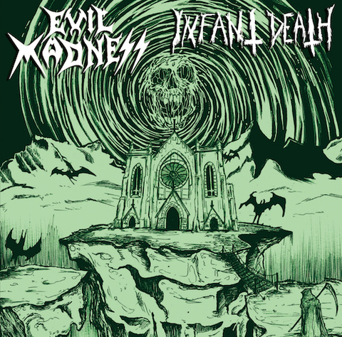 Evil Madness / Infant Death - split CD (パッチ付き/Infant Death)