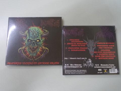 Nunslaughter / Paganfire - Obscured Visions of Satanic Arson CD (デジパック)