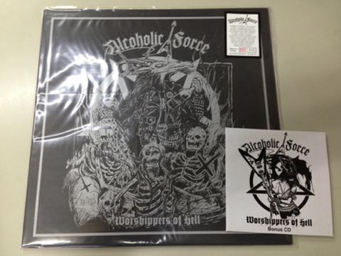 "Alcoholic Force - Worshippers of hell 12"" + CD"