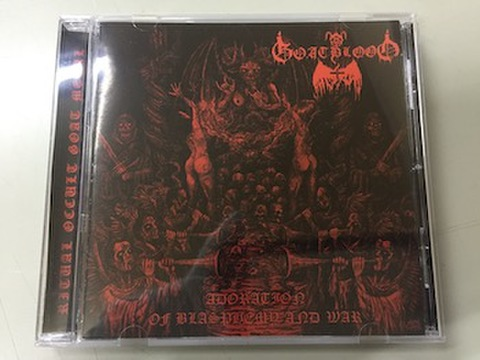 Goatblood	- Adoration Of Blasphemy And War CD