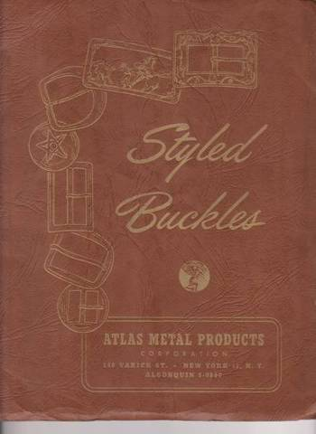 1949 Atlas Metal Buckle Catalog【ヴィンテージ カタログ】