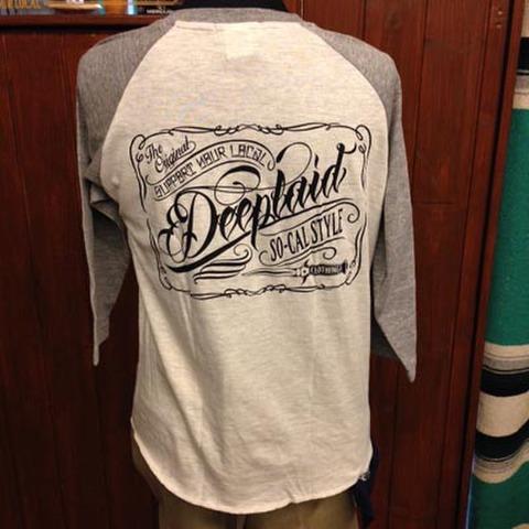 DEEPLAID CLOTHING SCRIPT SIGN 3/4 SLEEVE TEE ディープレイド/5,800円