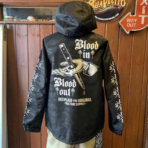 DEEPLAID CLOTHING BLOOD IN BLOOD OUT PAISLEY SHELL PARKA ディープレイド/11,800円