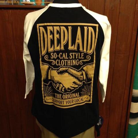 DEEPLAID CLOTHING SHAKE HANDS 3/4 SLEEVE TEE ディープレイド/4,800円