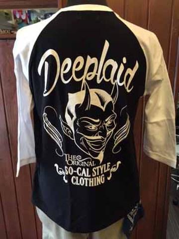 DEEPLAID CLOTHING DEVIL 3/4 SLEEVE TEE ディープレイド/4,800円