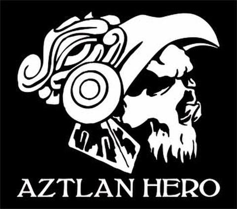 AZTLAN HEROカッティングステッカー ホワイト・ブラック・ブルー・レッド