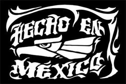 HECHO EN MEXICOカッティングステッカー ホワイト・ブラック・ブルー・レッド