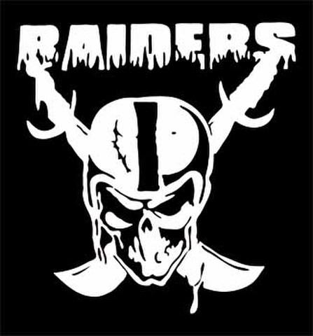 SKULL RAIDERSカッティングステッカー ホワイト・ブラック・ブルー・レッド