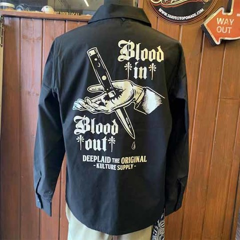 DEEPLAID CLOTHING BLOOD IN BLOOD OUT L/S OPEN SHIRTS /7,800円