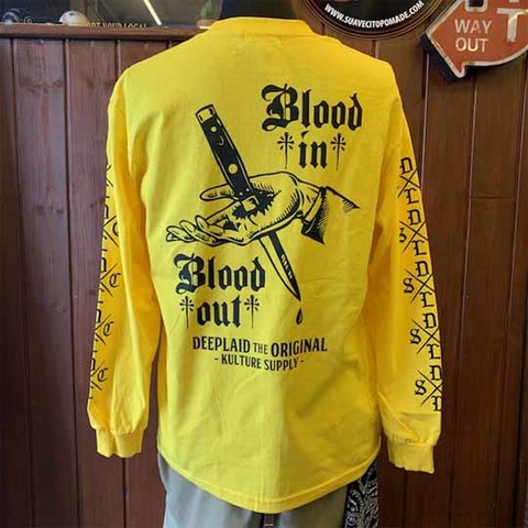DEEPLAID CLOTHING BLOD IN BLOOD OUT LONG SLEEVE TEE ディープレイド/5,800円