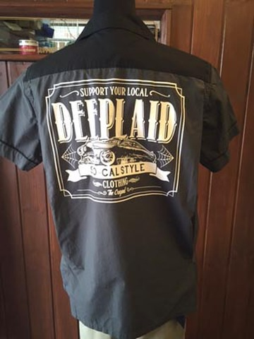 DEEPLAID CLOTHING KUSTOM RIDE BOWLING SHIRTS ディープレイド/6,800円