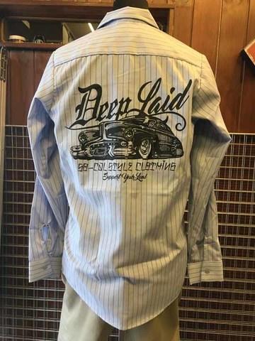 DEEPLAID CLOTHING OLD MEMORIES STRIPE L/S WORK SHIRTS ディープレイド/8,800円
