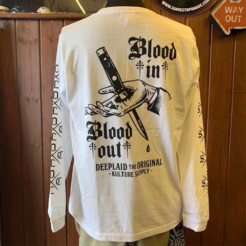 DEEPLAID CLOTHING BLOOD IN BLOOD OUT LONG SLEEVE TEE ディープレイド/5,800円
